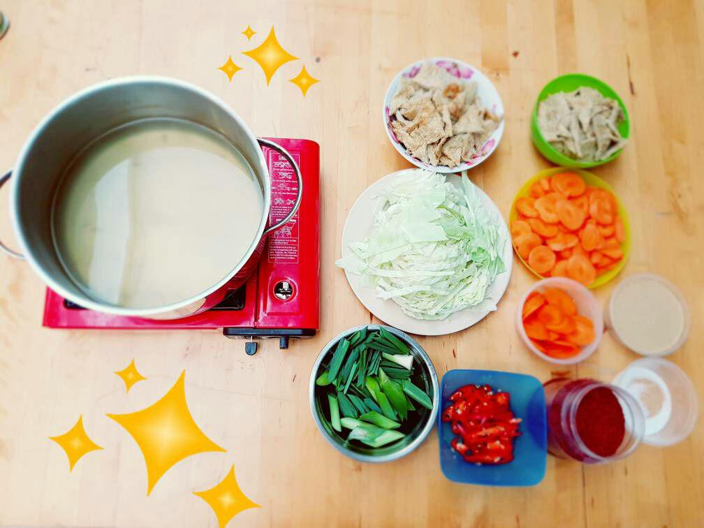 攝理韩式料理烹饪班的材料