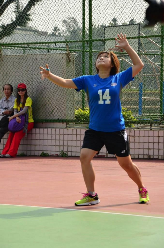 台湾摄理TCGM全国排球联赛_排球二传手林锦欣比赛英姿