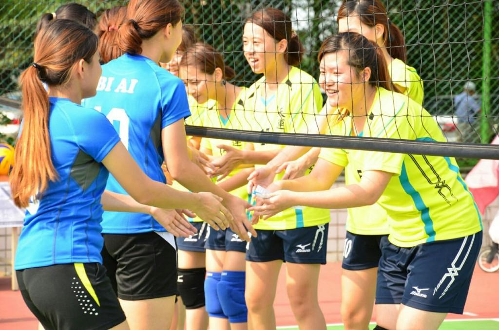 台湾摄理TCGM全国排球联赛_双方打招呼