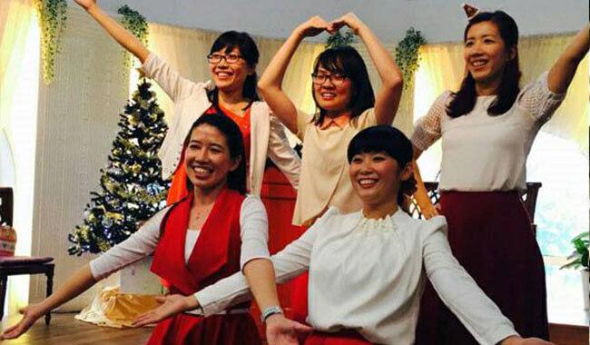 摄理教会庆祝圣诞节的天国宴席