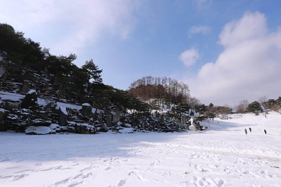 摄理月明洞冬季初雪