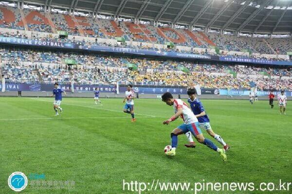 攝理_国际和平足球赛_比赛过程