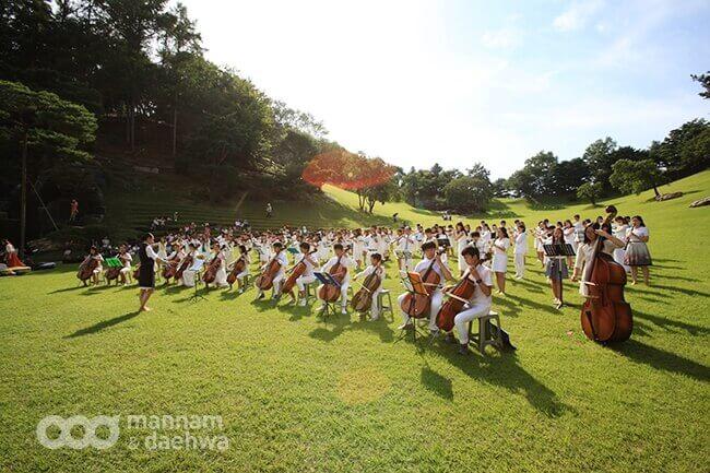 摄理新闻_第二届和平管弦乐团演奏