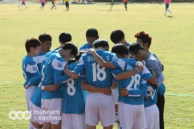 摄理秋季足球联赛_昌原选手赛前祷告